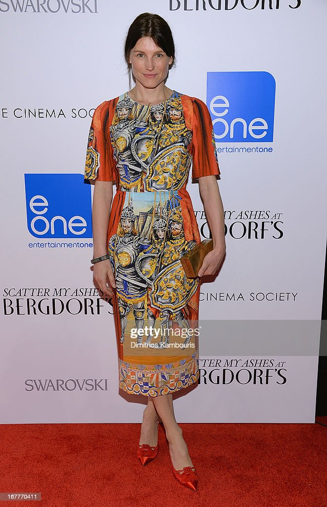 Designer Tabitha Simmons attends the Cinema Society with Swarovski & Grey Goose premiere of eOne Entertainment's 'Scatter My Ashes At Bergdorf's' at Florence Gould Hall on April 29, 2013 in New York City.