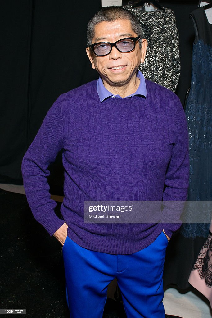 Designer Tadashi Shoji attends Tadashi Shoji during Fall 2013 Mercedes-Benz Fashion Week at The Stage at Lincoln Center on February 7, 2013 in New York City.