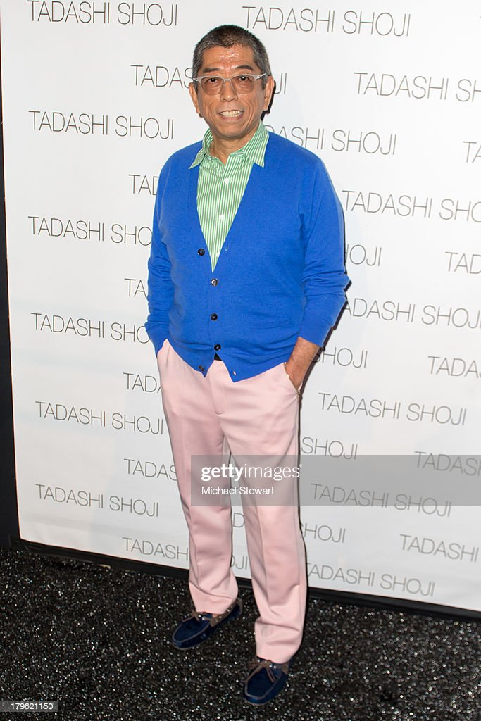 Designer Tadashi Shoji attends the Tadashi Shoji show during Spring 2014 Mercedes-Benz Fashion Week at The Stage at Lincoln Center on September 5, 2013 in New York City.