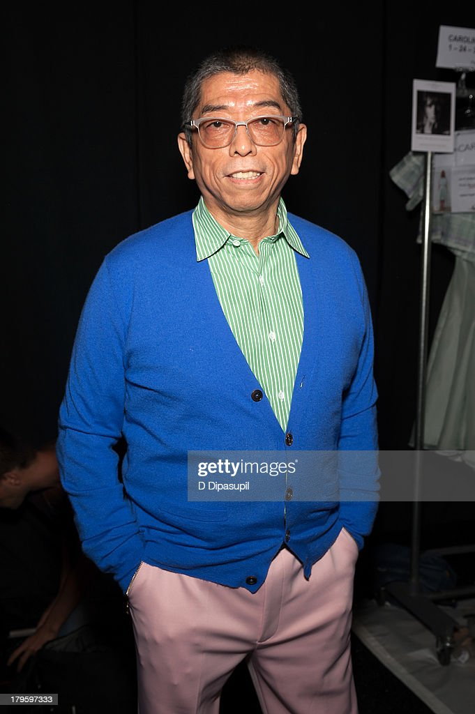 Designer Tadashi Shoji attends the Tadashi Shoji Spring 2014 fashion show at The Stage Lincoln Center on September 5, 2013 in New York City.