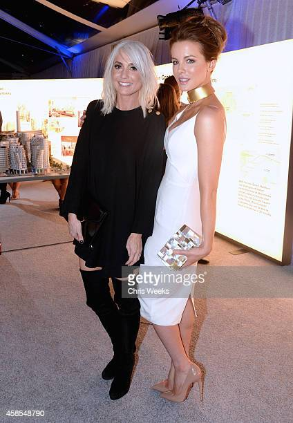 Designer Taylor Jacobson and actress Kate Beckinsale attend the Battersea Power Station launch party to celebrate the launch of its Global Tour at...