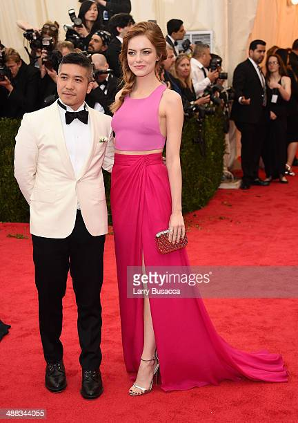 Designer Thakoon Panichgul and actress Emma Stone attend the 'Charles James Beyond Fashion' Costume Institute Gala at the Metropolitan Museum of Art...