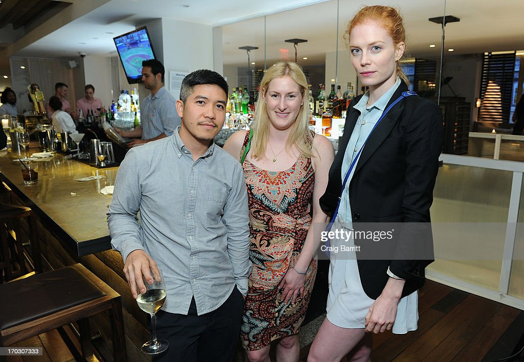 Designer Thakoon Panichgul, Natasha Wolff, Cities Editor of DuJour Media; and model Jessica Joffe attend DuJour Magazine Summer Issue celebrating the Julianne Moore cover on June 10, 2013 at Marlin Bar at Tommy Bahama in New York City.