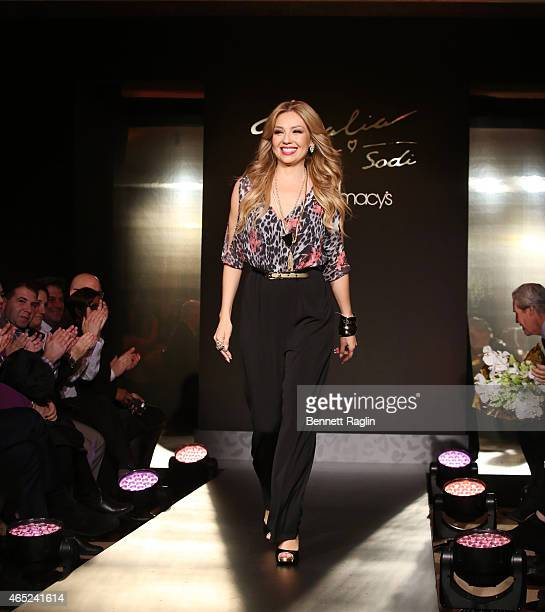 Designer Thalia walks the runway during the Thalia Fashion Show at Macy's Herald Square at Macy's Herald Square on March 4 2015 in New York City