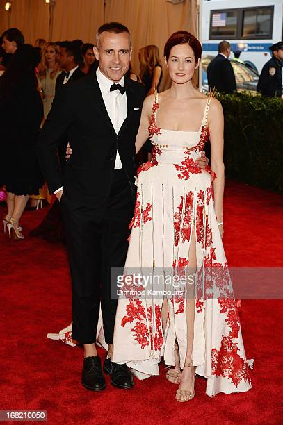 Designer Thom Browne and Taylor Tomasi Hill attend the Costume Institute Gala for the 'PUNK Chaos to Couture' exhibition at the Metropolitan Museum...