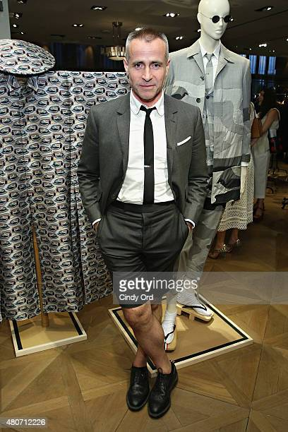 Designer Thom Browne attends as Thom Browne Goodman's Men's Store celebrate New York Mens Fashion Week S/S 2016 on July 14 2015 in New York City