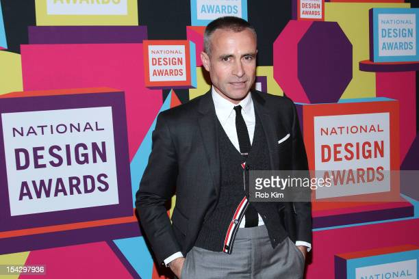 Designer Thom Browne attends the 2012 National Design Awards Gala at Pier Sixty at Chelsea Piers on October 17 2012 in New York City