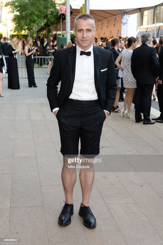 Designer Thom Browne attends the 2014 CFDA fashion awards at Alice Tully Hall Lincoln Center on June 2 2014 in New York City