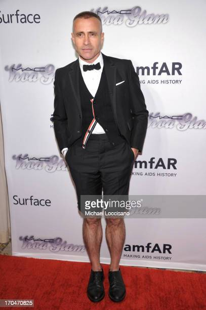 Designer Thom Browne attends the 4th Annual amfAR Inspiration Gala New York at The Plaza Hotel on June 13 2013 in New York City