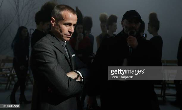 Designer Thom Browne attends Thom Browne during Fall 2013 MercedesBenz Fashion Week on February 11 2013 in New York City