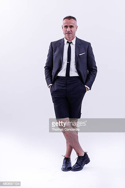 Designer Thom Browne 'the officeman 2015' presentation during New York Fashion Week Men's S/S 2016 on July 14 2015 in New York City