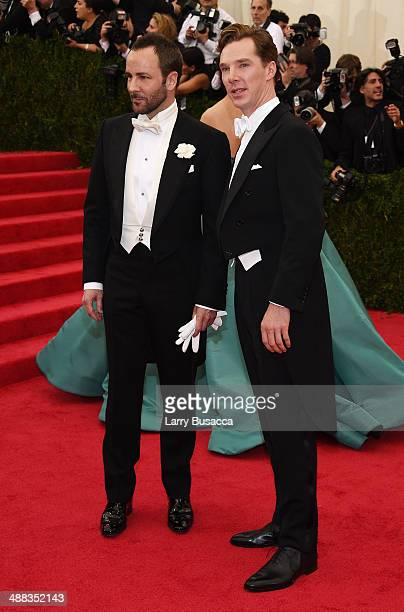 Designer Tom Ford and actor Benedict Cumberbatch attend the 'Charles James Beyond Fashion' Costume Institute Gala at the Metropolitan Museum of Art...