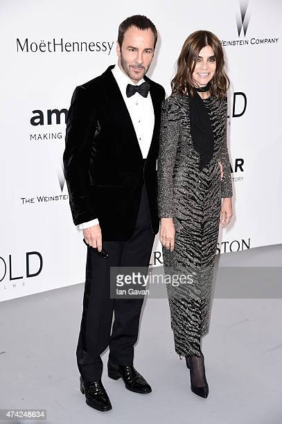 Designer Tom Ford and Carine Roitfeld attend amfAR's 22nd Cinema Against AIDS Gala Presented By Bold Films And Harry Winston at Hotel du CapEdenRoc...