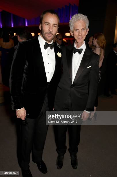 Designer Tom Ford and Richard Buckley attend the 2017 Vanity Fair Oscar Party hosted by Graydon Carter at Wallis Annenberg Center for the Performing...