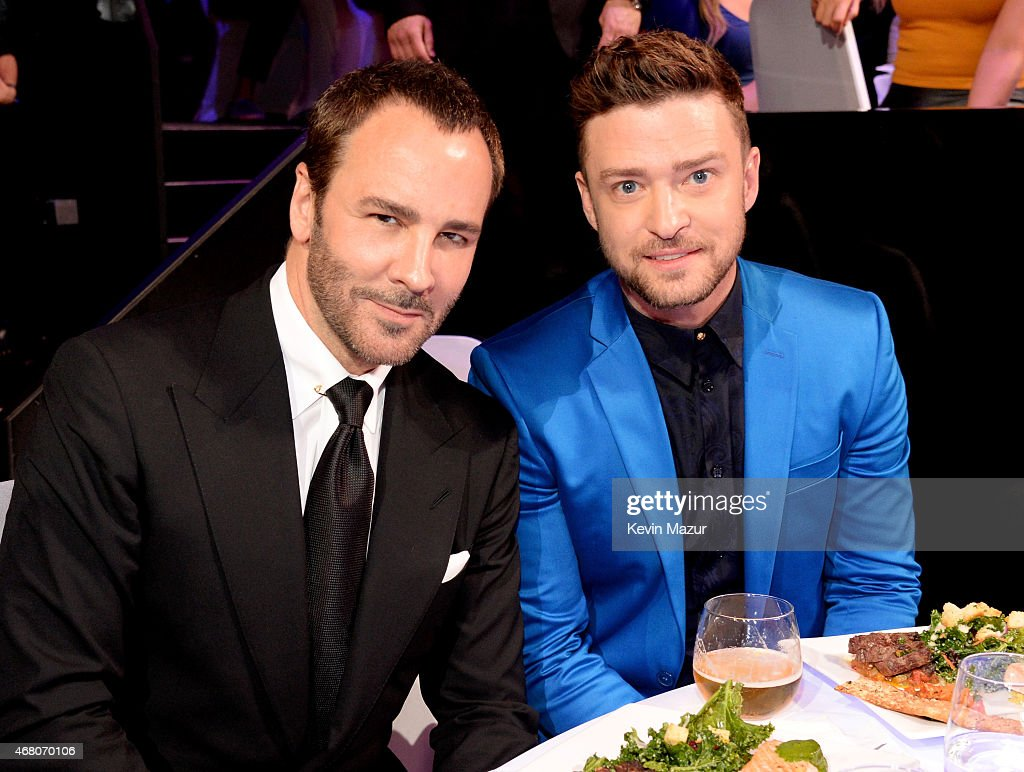 Designer Tom Ford and singer Justin Timberlake attend the 2015 iHeartRadio Music Awards which broadcasted live on NBC from The Shrine Auditorium on...