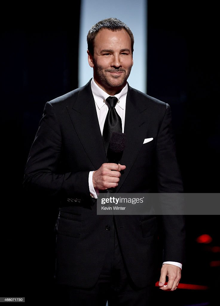 Designer Tom Ford speaks onstage during the 2015 iHeartRadio Music Awards which broadcasted live on NBC from The Shrine Auditorium on March 29 2015...