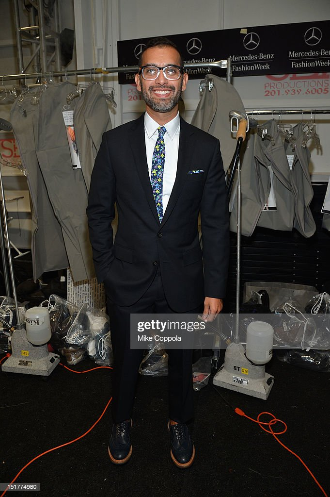 Designer Tom Mora poses at the J.Crew Presentation during the Spring 2013 Mercedes-Benz Fashion Week at The Studio at Lincoln Center on September 11, 2012 in New York City.