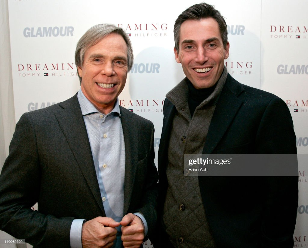 Designer Tommy Hilfiger and Bill Wackermann Vice President and Publisher of Glamour Magazine attend the Tommy Hilfiger and Glamour Magazine Ask Women...