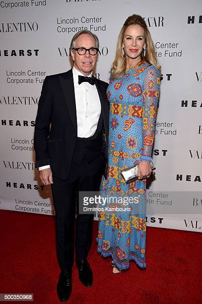 Designer Tommy Hilfiger and Dee Ocleppo attend an evening honoring Valentino at Lincoln Center Corporate Fund Black Tie Gala on December 7 2015 in...