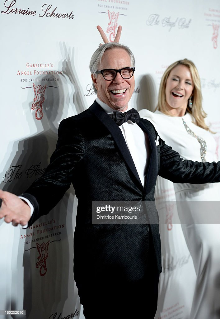Designer Tommy Hilfiger and <a gi-track='captionPersonalityLinkClicked' href=/galleries/search?phrase=Dee+Ocleppo&family=editorial&specificpeople=592235 ng-click='$event.stopPropagation()'>Dee Ocleppo</a> attend Gabrielle's Angel Foundation Hosts Angel Ball 2013 at Cipriani Wall Street on October 29, 2013 in New York City.