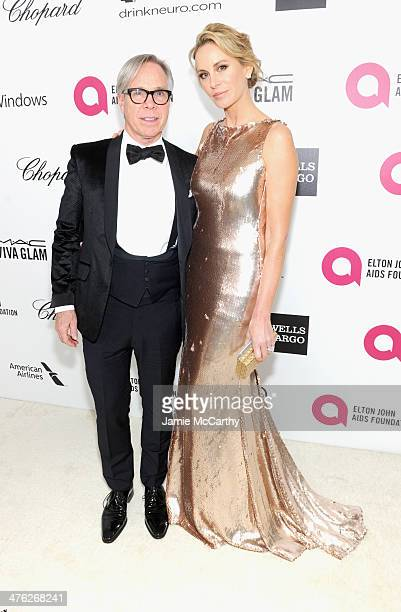Designer Tommy Hilfiger and Dee Ocleppo attend the 22nd Annual Elton John AIDS Foundation Academy Awards Viewing Party at The City of West Hollywood...