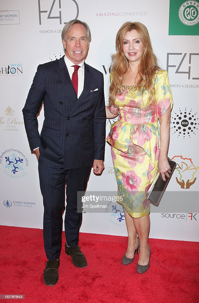 Designer Tommy Hilfiger and F4D co-founder Evie Evangelou attends the 2nd Annual Fashion 4 Development First Ladies Luncheon at The Pierre Hotel on September 25, 2012 in New York City.