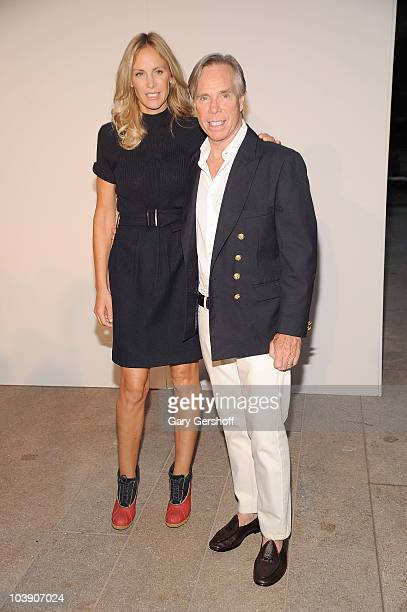 Designer Tommy Hilfiger and guest attend Fashion's Night Out The Show at Lincoln Center on September 7 2010 in New York City