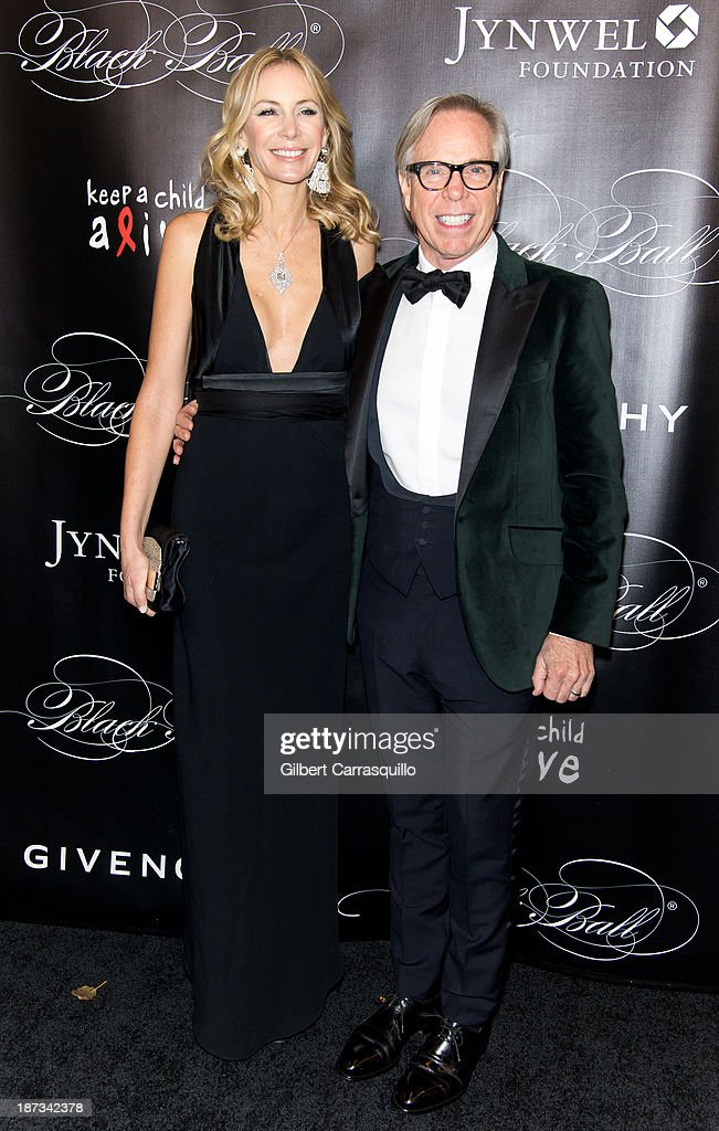 Designer Tommy Hilfiger and wife Dee Ocleppo attend the 10th annual Keep A Child Alive Black Ball at Hammerstein Ballroom on November 7, 2013 in New York City.
