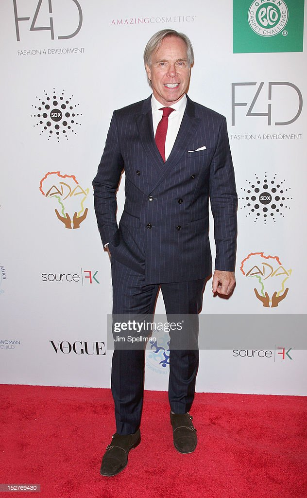 Designer Tommy Hilfiger attends the 2nd Annual Fashion 4 Development First Ladies Luncheon at The Pierre Hotel on September 25, 2012 in New York City.
