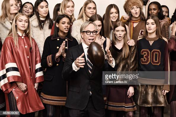 Designer Tommy HIlfiger backstage at Tommy Hilfiger Women's show during MercedesBenz Fashion Week Fall 2015 on February 16 2015 in New York City
