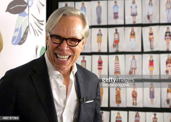 Designer Tommy Hilfiger backstage before his presentation during New York Fashion Week in New York September 14 2015 AFP PHOTO/TREVOR COLLENS