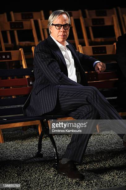Designer Tommy Hilfiger backstage during Tommy Hilfiger Presents Fall 2012 Women's Collection at the Park Avenue Armory at Park Avenue Armory on...