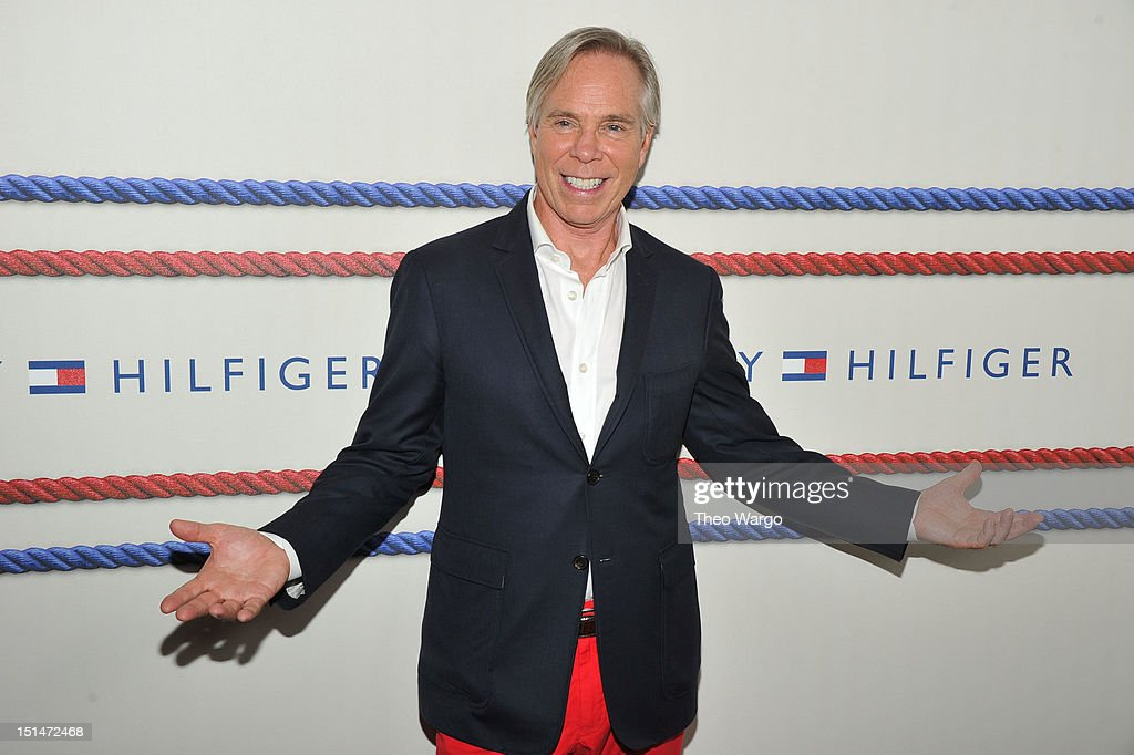Designer Tommy Hilfiger poses backstage at the Tommy Hilfiger Men's Spring 2013 fashion show during Mercedes-Benz Fashion Week at Maritime Hotel on September 7, 2012 in New York City.