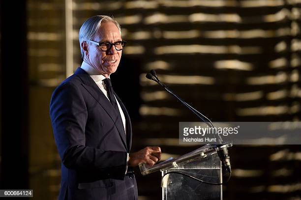 Designer Tommy Hilfiger receives the fashion visionary of the year award at The Daily Front Row's 4th Annual Fashion Media Awards at Park Hyatt New...