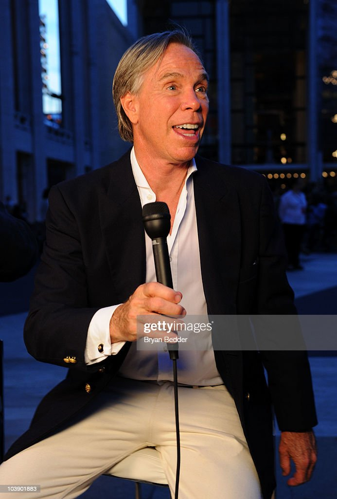 Designer Tommy Hilfiger speaks at Fashion's Night Out The Show at Lincoln Center on September 7 2010 in New York City