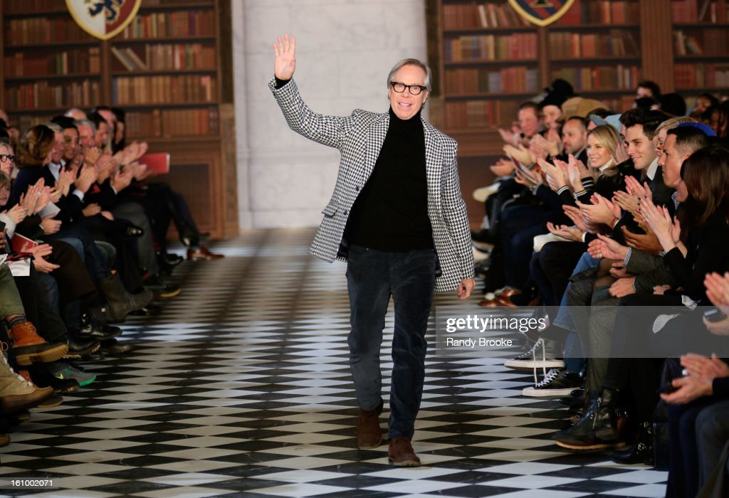 Designer Tommy Hilfiger walks the runway at the Tommy Hilfiger Fall 2013 Men's Collection fashion show during Mercedes-Benz Fashion Week at Park Avenue Armory on February 8, 2013 in New York City.