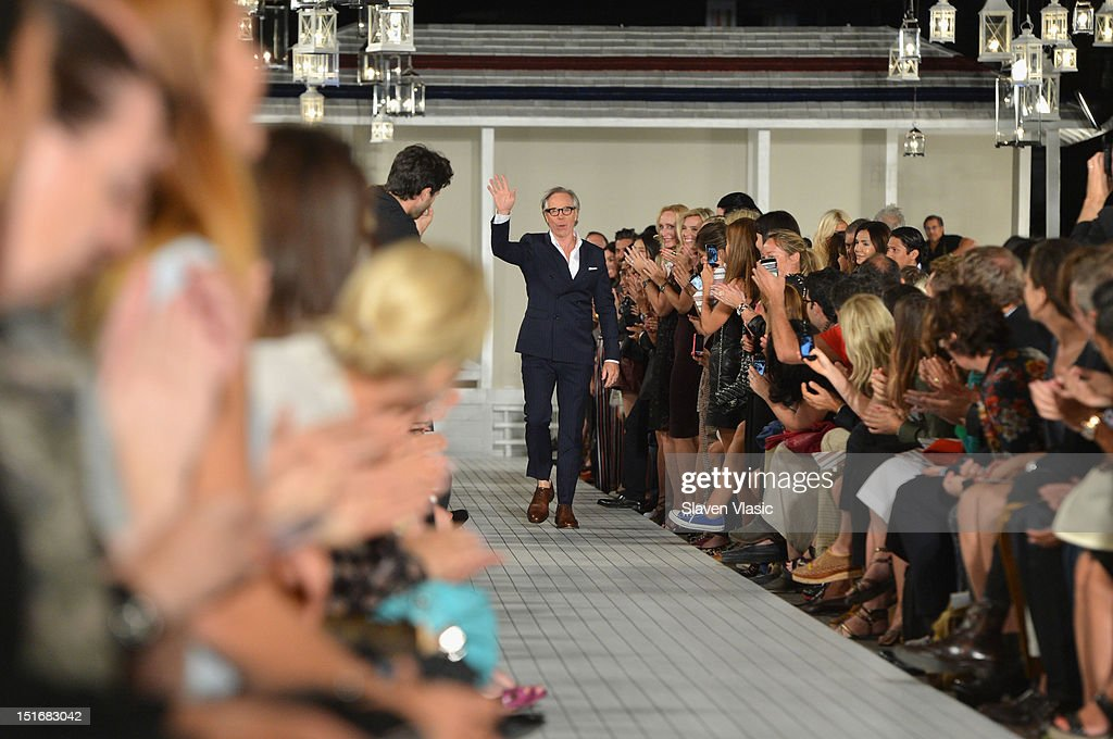 Designer Tommy Hilfiger walks the runway at the Tommy Hilfiger Women's Spring 2013 fashion show during Mercedes-Benz Fashion Week at The Highline on September 9, 2012 in New York City.