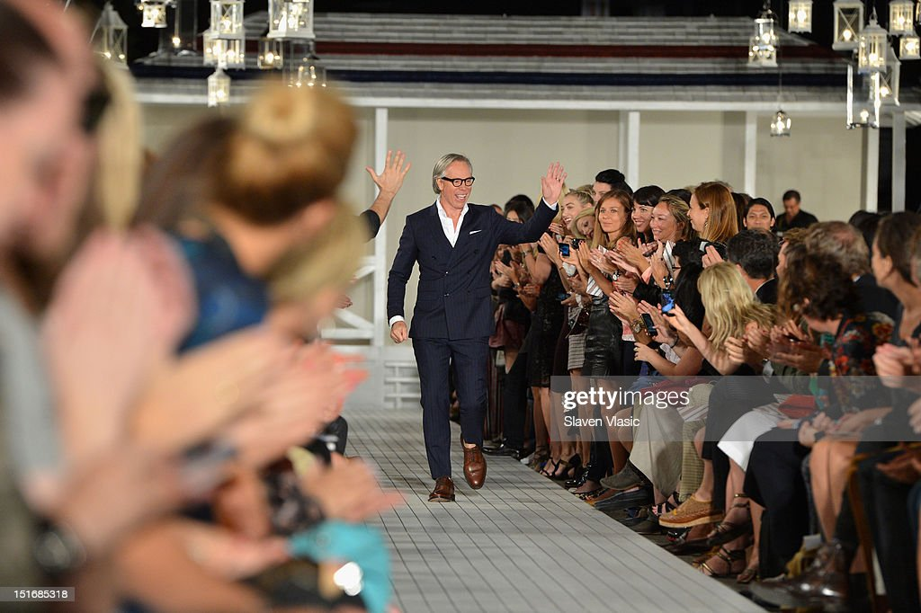 Designer Tommy Hilfiger walks the runway at the Tommy Hilfiger Women's Spring 2013 fashion show during Mercedes-Benz Fashion Week on September 9, 2012 in New York City.