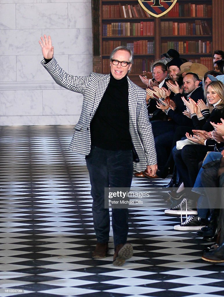 Designer Tommy Hilfiger walks the runway at Tommy Hilfiger Men's Fall 2013 fashion show during Mercedes-Benz Fashion Week at Park Avenue Armory on February 8, 2013 in New York City.