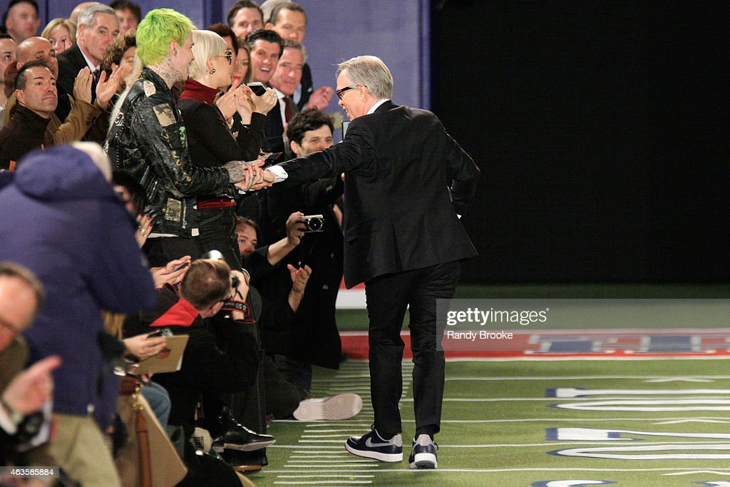 Designer Tommy Hilfiger walks the runway at Tommy Hilfiger Women's Collection during MercedesBenz Fashion Week Fall 2015 on February 16 2015 in New...