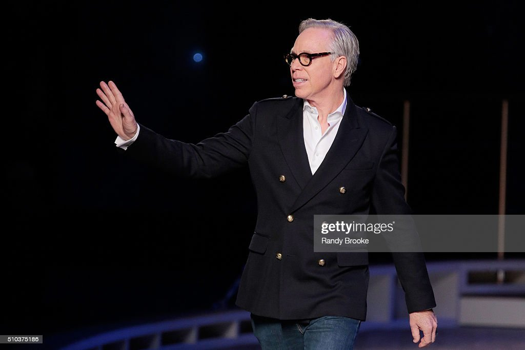 Designer Tommy Hilfiger walks the runway during the Tommy Hilfiger Women's runway show during Fall 2016 New York Fashion Week at Park Avenue Armory...