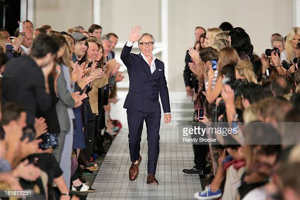 Designer Tommy Hilfiger walks the runway during Tommy Hilfiger Presents Spring 2013 Women's Collection at High Line's Chelsea Market Passage on...