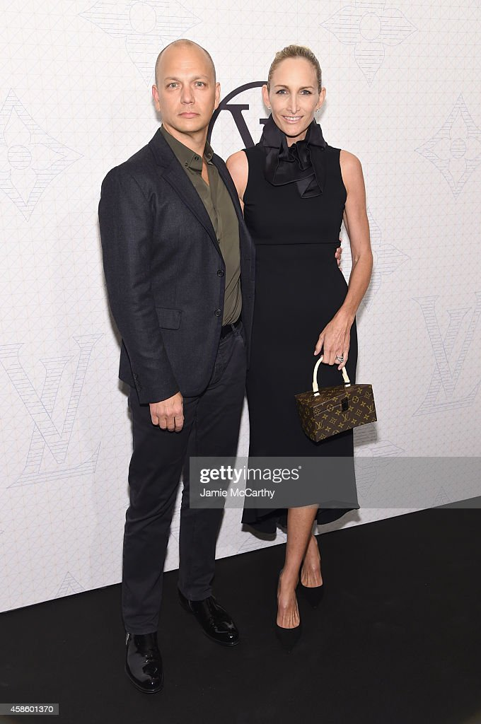 Designer <a gi-track='captionPersonalityLinkClicked' href=/galleries/search?phrase=Tony+Fadell&family=editorial&specificpeople=8578729 ng-click='$event.stopPropagation()'>Tony Fadell</a> (L) and Danielle Lambert attend Louis Vuitton Monogram celebration at Museum of Modern Art on November 7, 2014 in New York City.