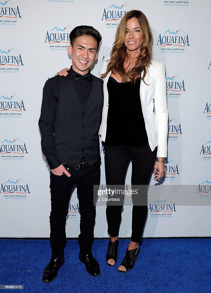 Designer Tony Vo and Reality TV personality/model Kelly Bensimon attends The Aquafina 'Pure Challenge' After Party at The Empire Hotel Rooftop on February 6, 2013 in New York City.