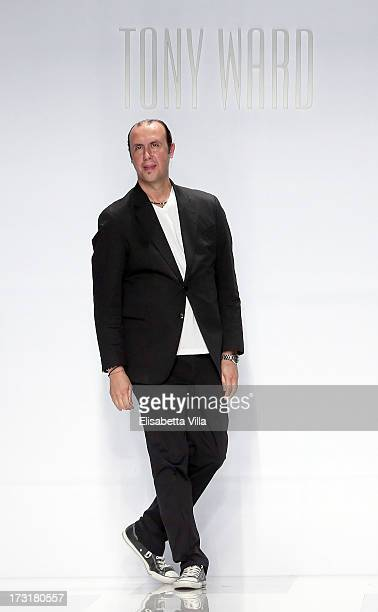 Designer Tony Ward walks the catwalk during his F/W 20132014 Haute Couture collection fashion show as part of AltaRoma AltaModa Fashion Week at Santo...