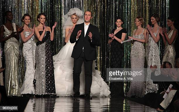 Designer Tony Ward walks the runway during Tony Ward fashion show as part of the Rome Fashion Week Spring / Summer 2010 on February 1 2010 in Rome...