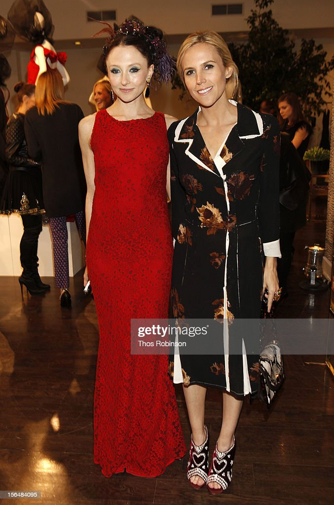 Designer Tory Burch and guest attend Fashion For Sandy Relief at Metropolitan Pavilion on November 15, 2012 in New York City.