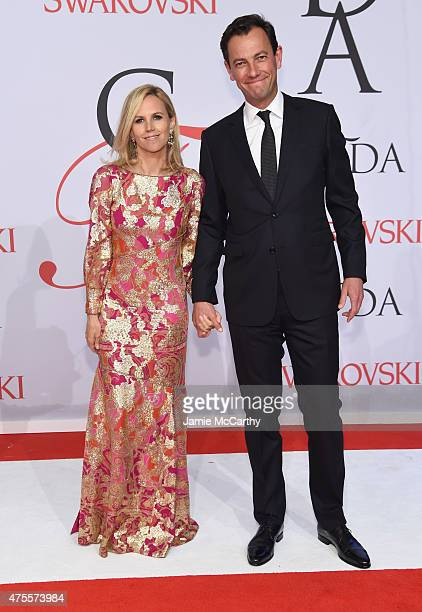 Designer Tory Burch and PierreYves Roussel attend the 2015 CFDA Fashion Awards at Alice Tully Hall at Lincoln Center on June 1 2015 in New York City