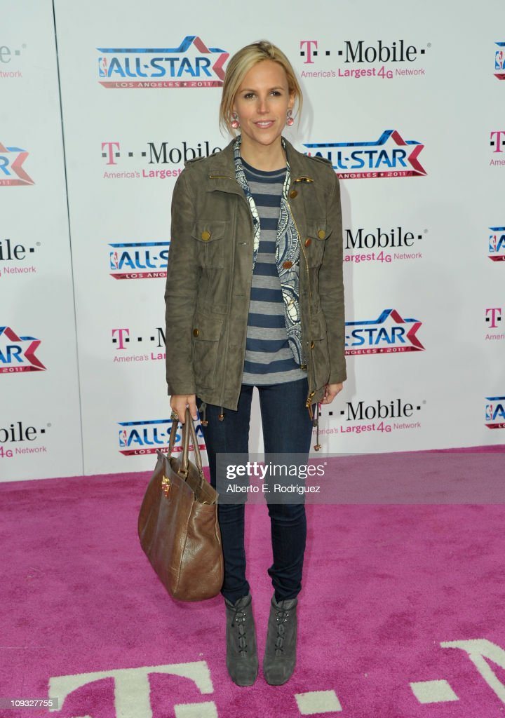 Designer Tory Burch arrives to the T-Mobile Magenta Carpet at the 2011 NBA All-Star Game on February 20, 2011 in Los Angeles, California.