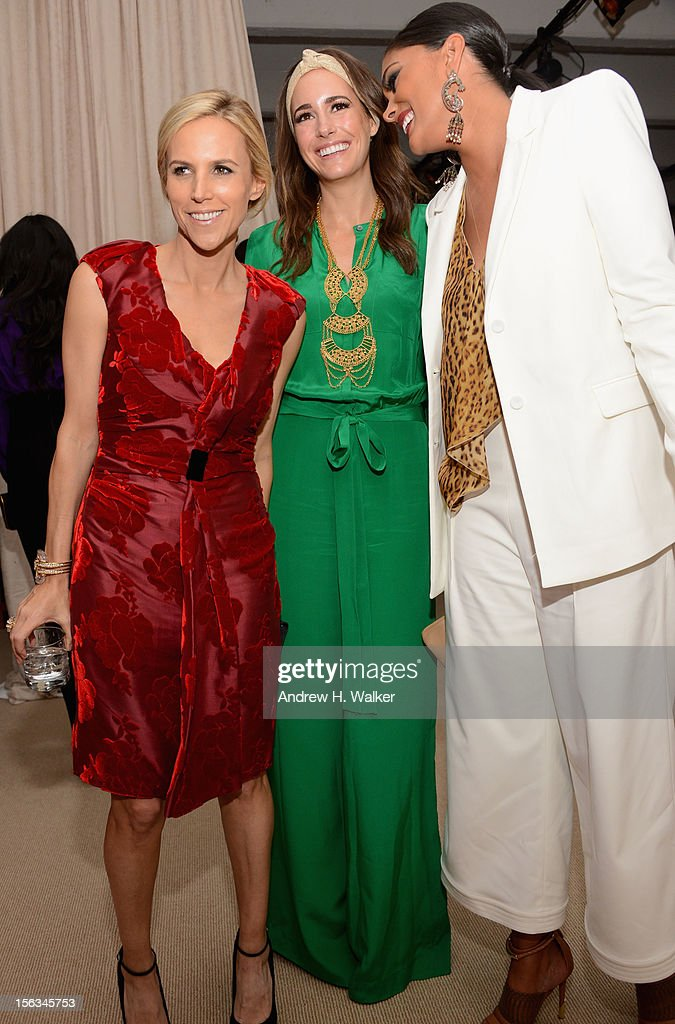 Designer Tory Burch, <a gi-track='captionPersonalityLinkClicked' href=/galleries/search?phrase=Louise+Roe&family=editorial&specificpeople=4300958 ng-click='$event.stopPropagation()'>Louise Roe</a> and designer Rachel Roy attend The Ninth Annual CFDA/Vogue Fashion Fund Awards at 548 West 22nd Street on November 13, 2012 in New York City.